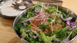ステーキとおやさい なおちゃん_名物 生野菜サラダ(フル)_060